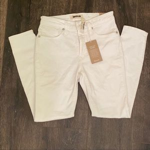 Madewell white High rise skinny jeans